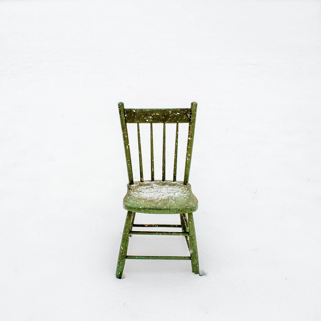 chair, snow